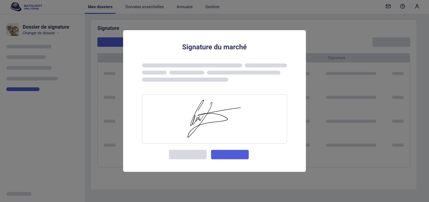Signature des marchés